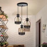 85-240V E27 Moderno Pingente Lâmpada do teto Luz Corredor Quarto Decoração de fixação do bar doméstico sem lâmpada