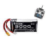 Alien modelo 7.4V 3000mAh 2S 5C XT30 Enchufe Lipo Batería para JUMPER T16 Radio Transmisor