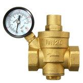 DN20 3 / 4inch BSPP давление воды латунный редукционный клапан с манометром потока регулируемой