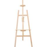 Transon MCHJ145 Tripod Şövale Ahşap Ayarlanabilir Yükseklik Şövale 1.45 m Sarı Çam Kurulu Tripod Ekran Boyama Çizim için Standı Sanat