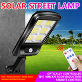 Solar Powered 4COB/6COB LED Street Light Motion Sensor Waterproof Wall Lamp Security Outdoor Decor with Remote Control