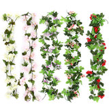 Artificial Silk Trailing Vine Flower Plant Wedding Hanging Wall Garden Decorations