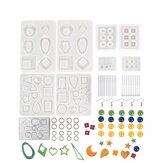 249STKSEpoxySiliconennHarsGieten DIY Mallen Kit Set Sieraden Hanger Maken Craft