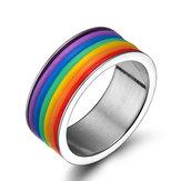 МодаизнержавеющейсталиFingerRing Unisex Jewelry
