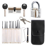 Unlocking Lock Opener Kit Ślusarz treningowy Transparent Practice Padlocks Tools