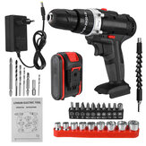 6000mAh 48V Electric Drill 25 Speeds Torque Impact Drill W/ 1/2pcs Battery