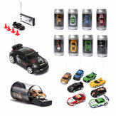 Mini Can Remote Radio Control Balap Kendaraan Mobil RC Model Lampu LED