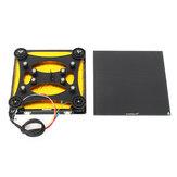 Creality 3D® 310 * 320 * 4mm Beheiztes Bett + Rückenstützschieberplatte mit Riemenscheibe + Ultrabase-Glasplattenplattform für CR-10S PRO / CR-X 3D Drucker Teil