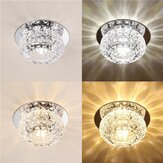 3W 5W Modern Round Shape Warm White Pure White Crystal LED Chandelier de luz de teto Downlight