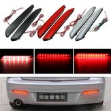 2pcs LED Rear Bumper Turn Signal Light Brake Tail Stop Running Lamp For Mazda 3 2010-2013