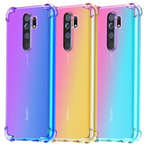 Bakeey for Xiaomi Redmi 9 Case Gradient Color with Four-Corner Airbags Shockproof Translucent Soft TPU Protective Case