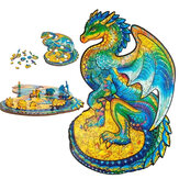 A3/A4/A5 Wooden Unidragon Jigsaw Puzzle Unique Animal Shape Toy Early Education Gift For Kid Children Adults Kids