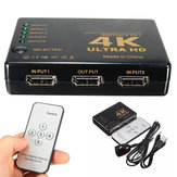 4K 5-Port 1080p HD Mutimedia-Schnittstelle 3D Switcher Selector Splitter Video Hub für PS3 HDTV
