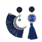 Bohemian Crystal Moon Drop Earrings Dangle women's Earrings