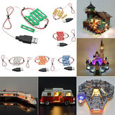 Universal DIY LED Light Brick Kit For Lego MOC Toys USB Port Blocks Accessories Decor