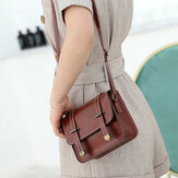 Mujer PU Casual Small Shoulder Bolsa Fashion Purse Phone Bolsa