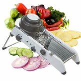 Mandolin Adjustable Stainless Steel multi-fungsi Sayuran Cutter Chopper Julienne Food Slicer