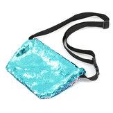 Сверкающие блестки русалка макияж сумка сумки ремень блестки кошелек кошелек сумка Comestic случай