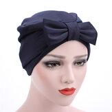 Kadın Saten Kekik Beanie Şapka Katı Şık Outdoor Günlük Turban Başlığı