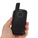 Portable Radio Ultra-thin Handheld Walkie Talkie Dual PTT Keys 16 Channels