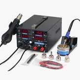 YIHUA 853D 110V/220V 1A USB Rework Station with Soldering Station DC Power Supply and Hot Air for Welding