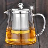 750/950 ml przezroczysty żaroodporny szklany dzbanek do herbaty Filtr zaparzający ze stali nierdzewnej