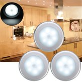 3pcs Bateria Powered PIR Motion Sensor 6 LED Night Light White / Warm White Lamp for Hallway Cabinet