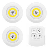3PCS 150LM 3W LED Lamp Wireless Remote Control Touch Night Light RC Bedroom Sensing Night Light for Kitchen Bathroom