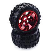 ZD 2pcs 3,6 polegadas 150 mm Monster Truck Wheels Rim e pneu para 1/8 Trx4 HSP HPI E-MAXX Savage Flux ZD Racing RC Car