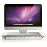 Aluminium Desktop Monitor Stand antislip Notebook Laptop Riser met 4-poorts USB-oplader voor iMac MacBook Pro Air