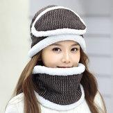 女性の厚いフリースライナー多目的ニット帽スカーフ