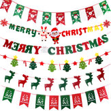 Christmas 2017 Paperboard Pennant Flags Banners Hanging Buntings Garland Banner String Party Flag