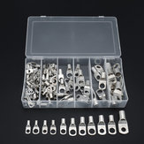 104Pcs Rame Kit per capicorda 6mm² / 10mm² / 16mm² / 25mm² / 35mm² / 50mm² Batteria Terminal Block 4WD