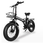 [EU Direct] TOODI TD-B2 48V 15AH 500W Brushless Motor 20in Folding Electric Bike 40km Mileage Disc Brake E Bike