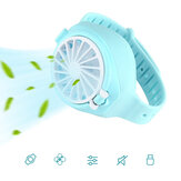 5W Children Mini Watch Fan USB Rechargeable 3 Speeds 800mAh Battery Sports Watch Fan Summer Cooling Fan Camping Travel Outdoor Indoor