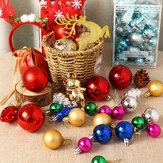 30 قطعة / المجموعة الحلي كرات شجرة الكريسماس اللامعة Colorful لحفلات الكريسماس الرئيسية والحديقة مستلزمات تزيين الكريسماس