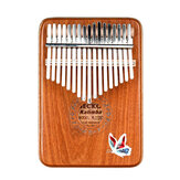 GECKO 17 Keys Kalimbas Mbira African Mahogany Finger Thumb Piano Wooden Keyboard Percussion Musical Instrument Gift