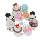 2 Tier White Stand Cake Cup Dessert Display Plate Birthday Weeding Party Rack