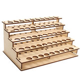 48 Holes Wooden Color Paints Bottle Storage Rack Holder Modular Organizer