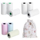 3 Rolls Thermal Paper Αυτοκόλλητος εκτυπωτής Paper Three-Color Thermal Paper Printing Paper Printer Protective Bag for Thermal Photo Printer