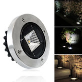 Solar Powered White Warm White Waterproof IP65 Buried Light Lawn Lamp for Outdoor Yard