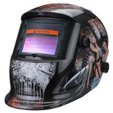 Solar Power Automatic Dimming Welding Helmet Welder Mask With Head Band Black