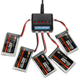 XF POWER 3.7V 680mAh 30C 1S Lipo البطارية PH 2.0 Plug with البطارية شاحن
