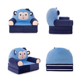 Cartoon Folding Baby Sofa Cover Soft Fleece Kids Seat Chair Protection Covers