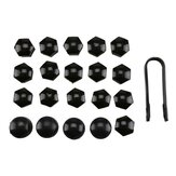 20PCS 17mm Universal Wheel Bolt Nut Bolt Head Black Covers