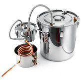 2/3/5/8 Gallons  Moonshine Still Spirits Kit Water Alcohol Distiller Copper Tube Boiler Home Brewing Kit with Thumper Keg Stainless Steel