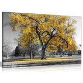 1 Piece Canvas Painting Yellow Leaves Big Tree Wall Decorative Art Print Picture Frameless Wall Hanging Home Office Decoration