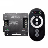 3 Channles LED Dimmer Controller Full Touch RF Remote Control For Single Color LED Strip DC12/24V