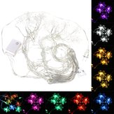 3.5M 100LED Snowflake Ice Curtain String Fairy Lights Xmas Party Wedding Decor 110V