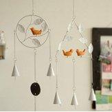 Honana DX-203 Creative Bird hechos a mano Bells Bell Campanula Decoración para el hogar de hierro Colgante